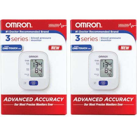 2 Pack OMRON 3 Series Upper Arm Automatic Blood Pressure Monitor OneTouch