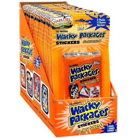 Wacky Packages Series 3 Trading Card Blister Box Trading Card Stickers