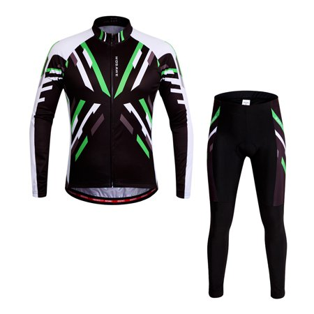 WOSAWE® Quick-dry Stretchy Unisex Mountain Biking Cycling Long Sleeve Jersey Pants Bicycle Tights Clothing Sets Suits Outdoor Sports Bike