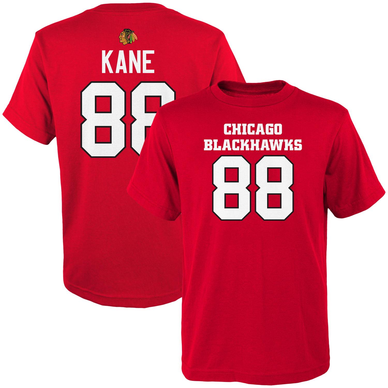 Youth Patrick Kane Red Chicago Blackhawks Name & Number T-Shirt