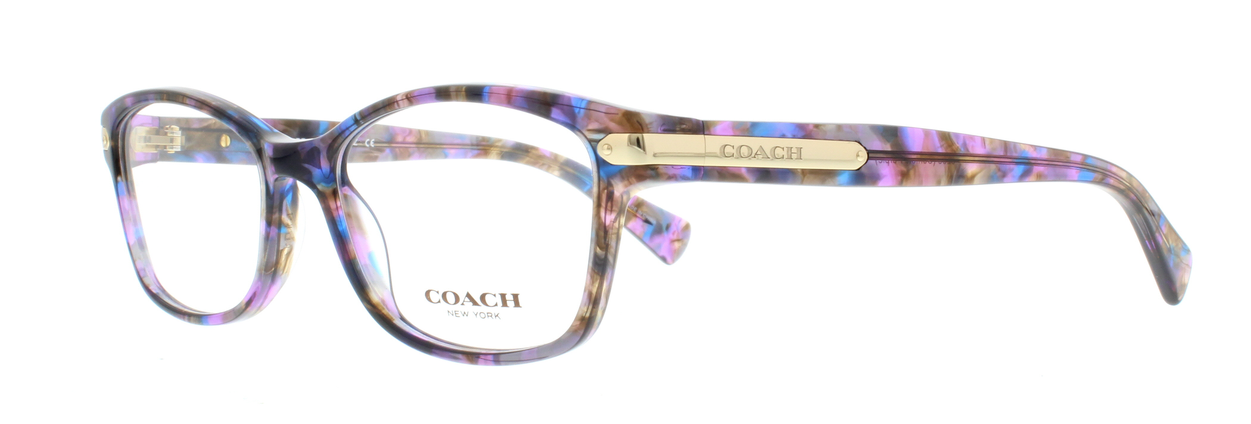 coach eyeglasses hc6065 5288 confetti purple 51mm walmartcom