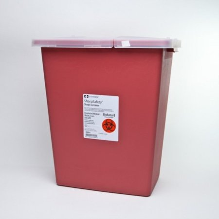 Kendall Monoject Sharps Containers (Kendall Sharps Container 8 Gallon Red - Model 8980)