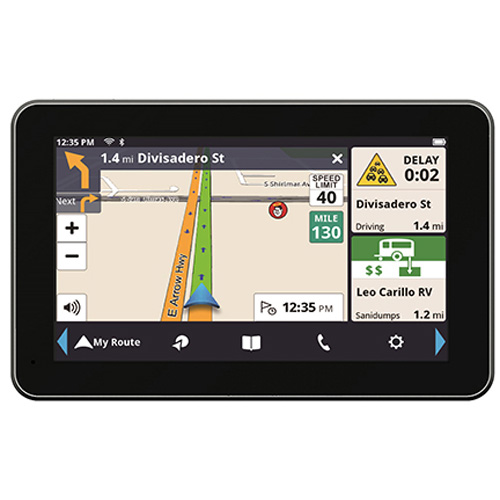 Magellan RoadMate RV9490T-LMB (US, Canada & Puerto Rico) 7 Inch Bluetooth Enabled Automotive GPS w/ Free Real-Time Traffic Alerts