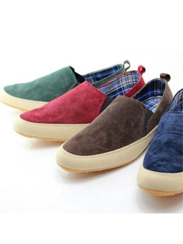 Fashion Men's Breathable Canvas Sneakers Slip On Loafer Moccasin Zapato Shoes by