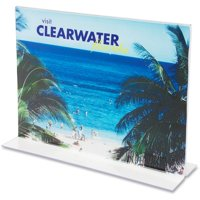 deflecto Classic Image Stand-Up Double-Sided Sign Holder, Plastic, 11 x 8 1/2 Insert