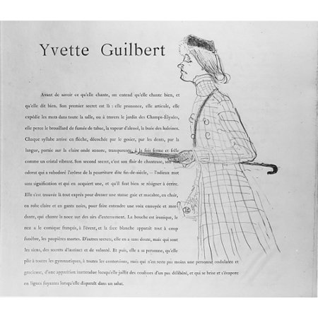 yvette guilbert poster print by henri de toulouse lautrec french albi 1864 1901 saint andr. Black Bedroom Furniture Sets. Home Design Ideas
