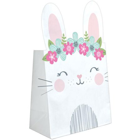 Creative Converting Bunny Party Favor Bags, 8 ct](Bunny Party Supplies)