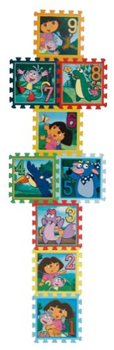 Dora The Explorer Hopscotch : Creative Soft Foam Floor Mat by What Kids Want