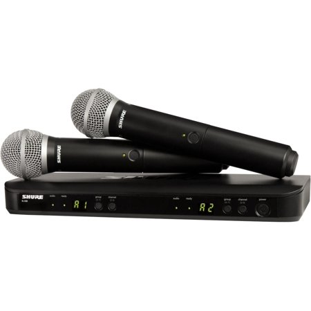 BLX288/PG58 Dual-Channel Wireless System with Two PG58 Handheld Transmitters