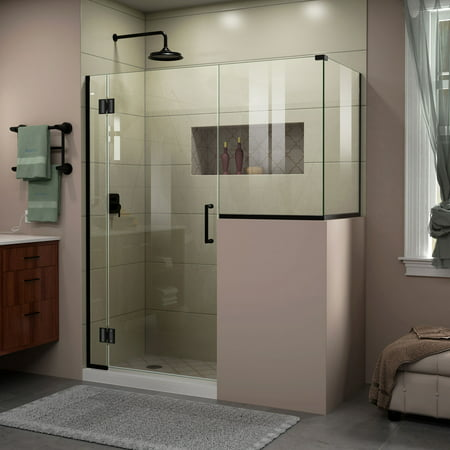 DreamLine Unidoor X 60 in W x 36 3 8 in D x 72 in H Frameless Hinged S