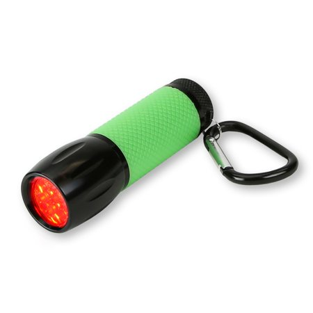 Carson RedSight Pro - Red LED Flashlight with Two Brightness (Fish Flashlight)