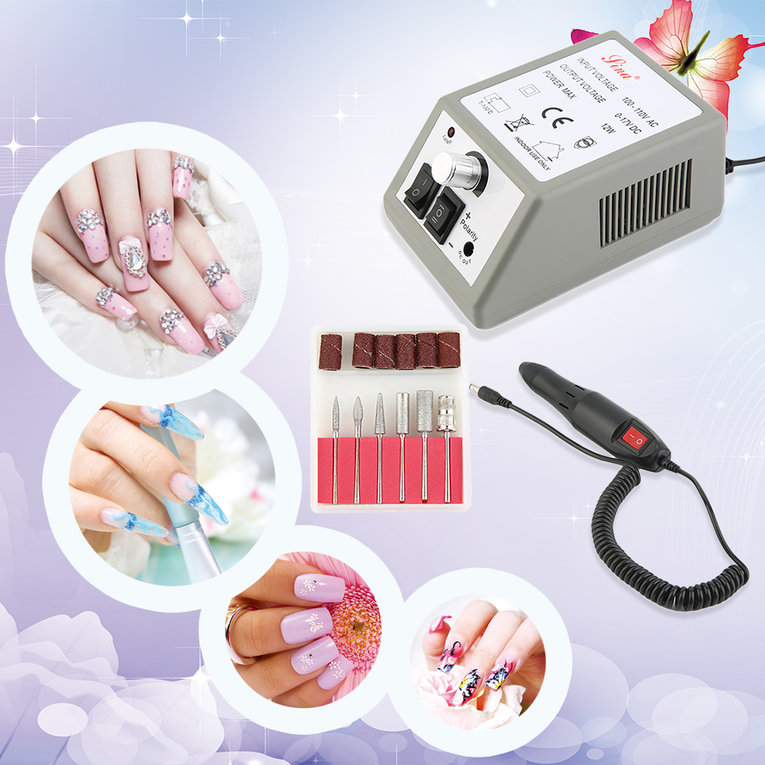 Professional Electric Nail Drill Machine Manicure File Drill Bits Sanding Ban, Power Tool Combination