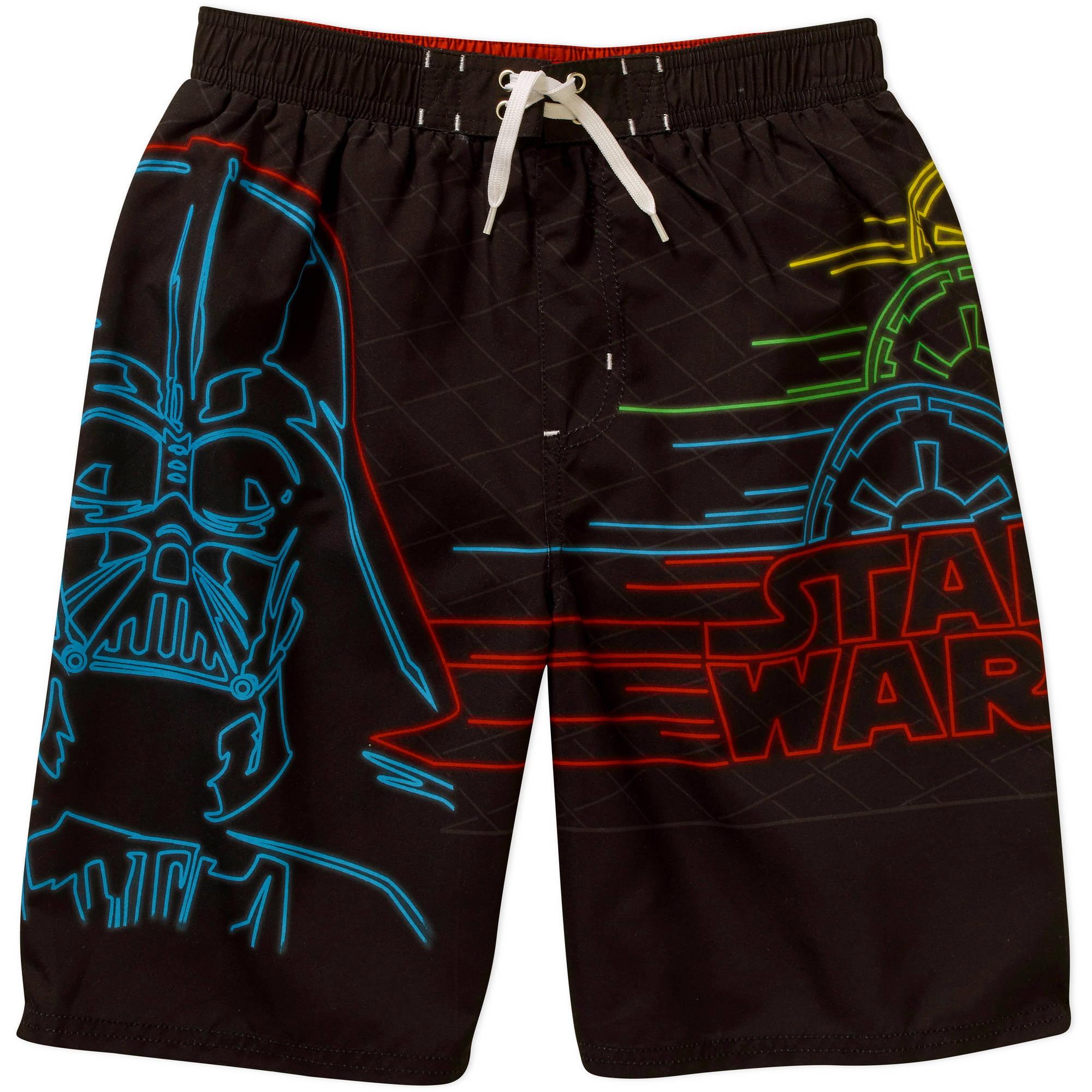 09889fc27e55a ONLINE - Star Wars Boys Swim Shorts - Walmart.com