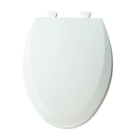 Sedona Beige Elongated Toilet Seat - Bemis Lift-Off Wood Elongated Toilet Seat