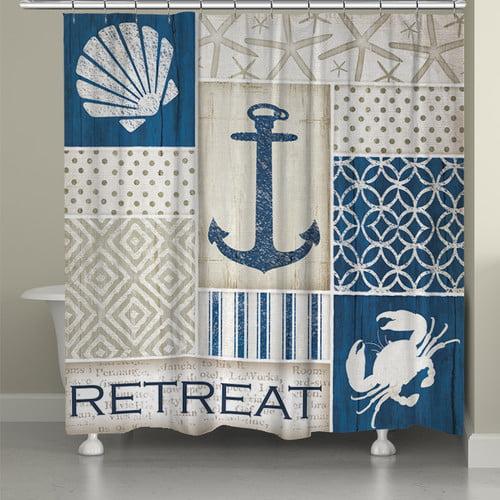 Laural Home Coastal Retreat Single Shower Curtain