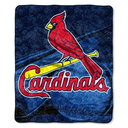 St. Louis Cardinals Blanket 50x60 Sherpa Big Stick Design Arizona Cardinals Soft Blanket