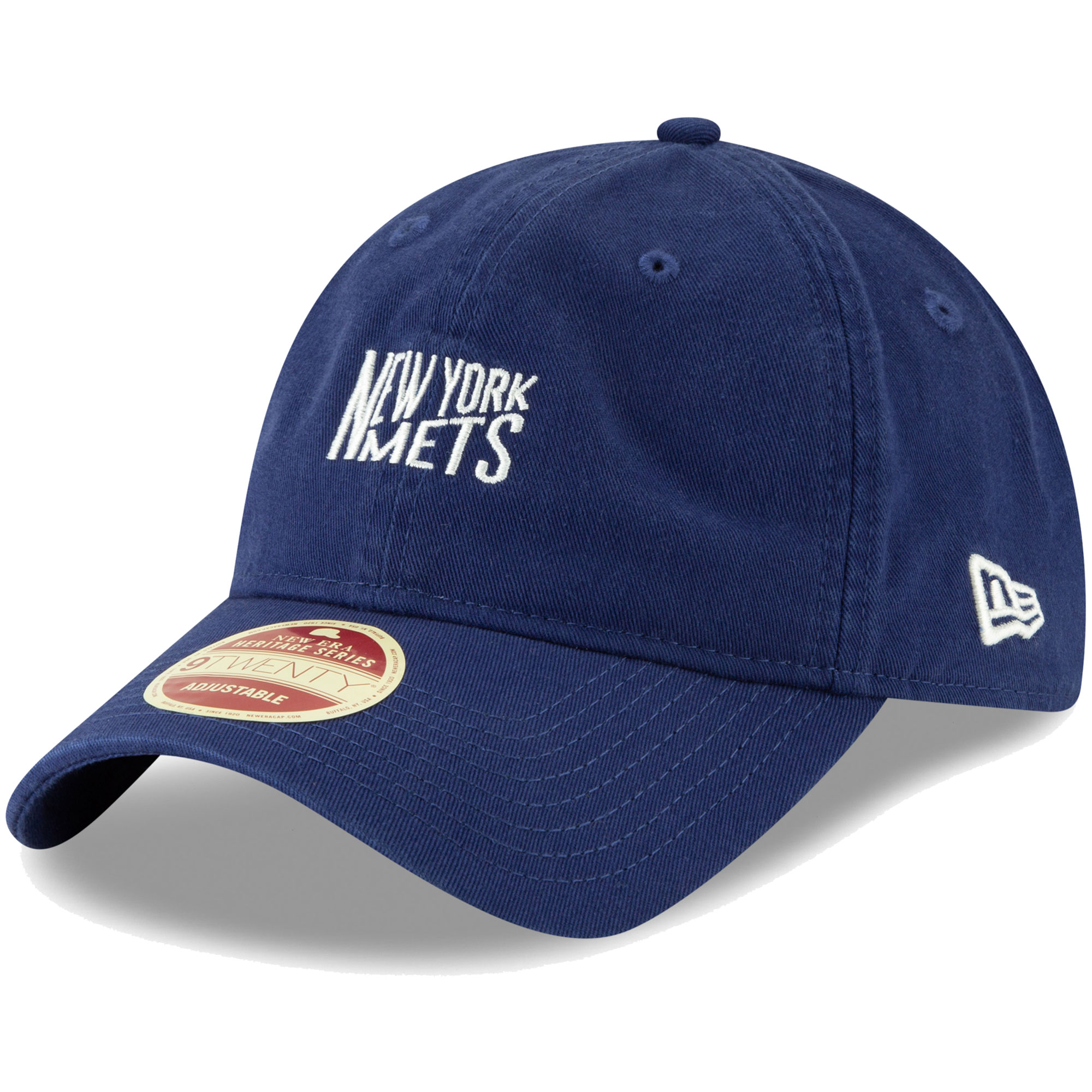New York Mets New Era Cooperstown Collection Classic Front 9TWENTY Adjustable Hat - Royal - OSFA