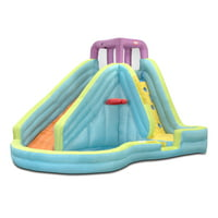 Deals on Little Tikes Slam n Curve Inflatable Water Slide with Blower