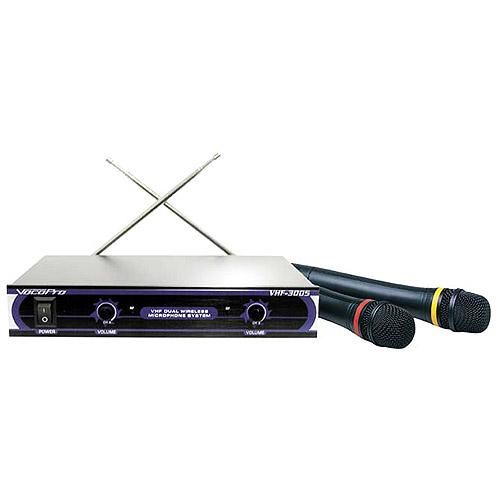 VocoPro VHF3005 Dual Handheld Wireless Microphone System