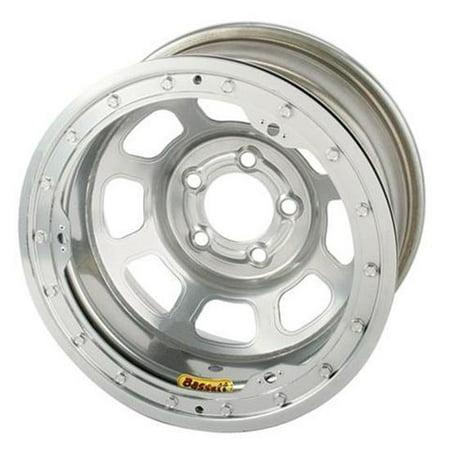 Bassett 54SJ55SL 15X14 D-Hole Lite 5on5.5 5.5 BS Silver Beadlock Wheel 2.2 Beadlock Wheel