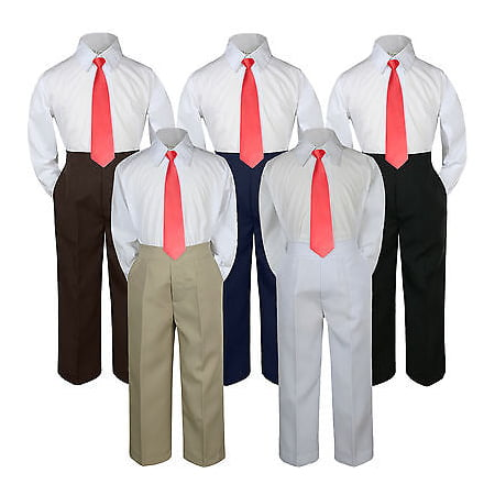 3pc Red Christmas  Tie  Suit Shirt Pants Set Baby Boy Toddler Kid Uniform S-7 - Baby Christmas Suits