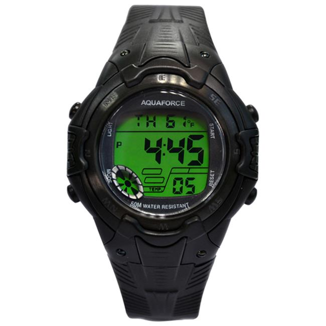 Aquaforce 26-008 Multi Function Black Strap Watch with Temperature Digital