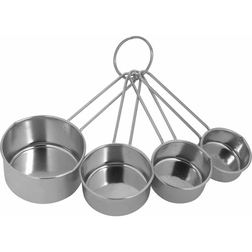 World Kitchen 4-Piece Stainless Steel Measuring Cup Set
