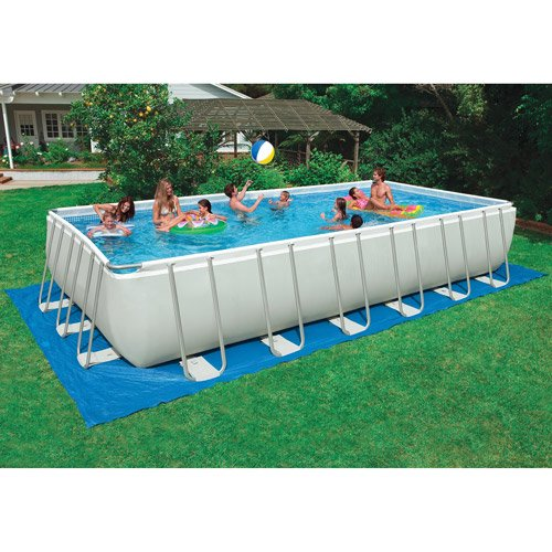 intex 24 x 12 x 52 ultra frame above ground swimming pool with sand filter walmartcom