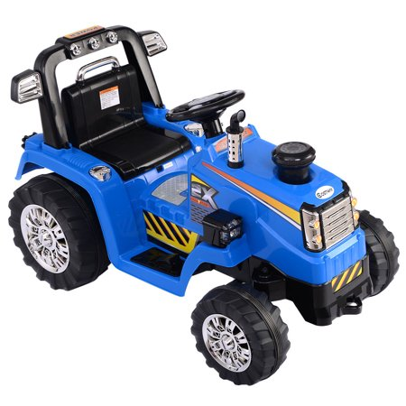 costway 12v battery powered kids ride on tractor electric