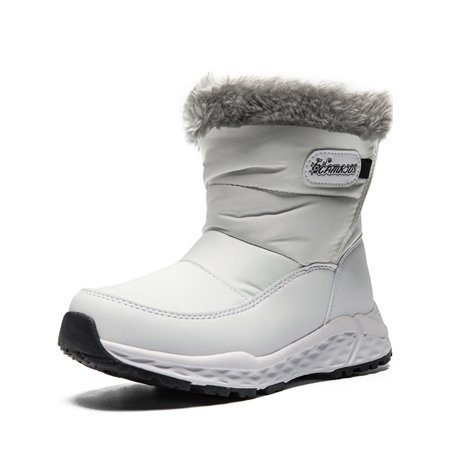 Snow Boots For Girls Pink/White/Black Winter Warm Boots (Little Kid/Big Kid/) White Winter Boots