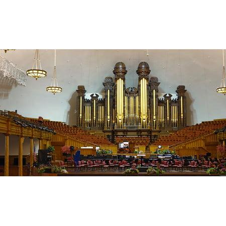 LAMINATED POSTER Religion Organ Mormons Church Organ Salt Lake City Poster Print 24 x 36](Costumes Salt Lake City)