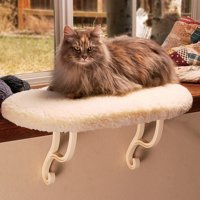K&H Pet Products Kitty Still Heated Cat Bed, White