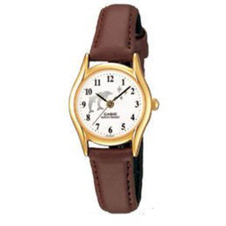 Womens Brown Leather Analog Watch LTP1094Q-7B9