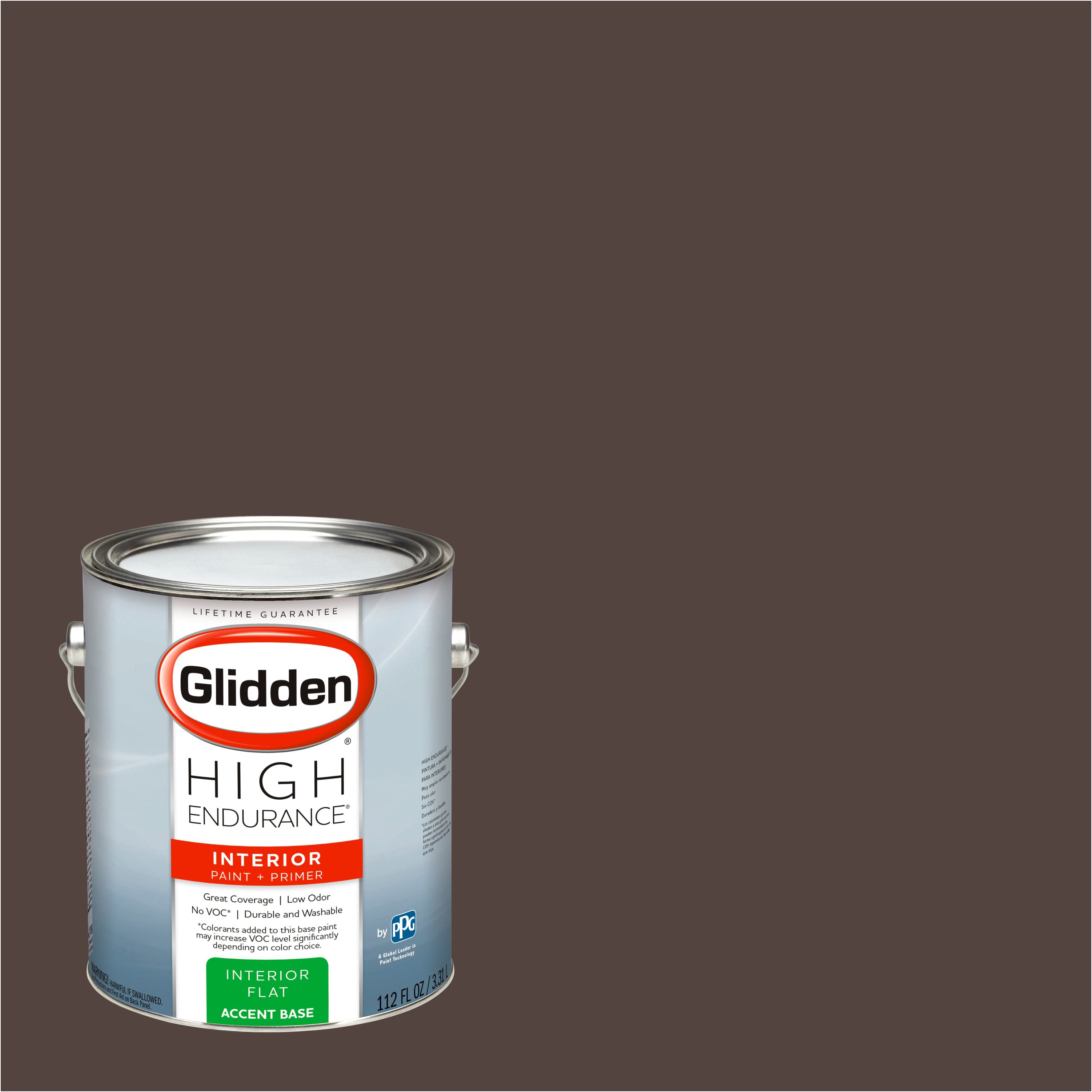 Glidden High Endurance, Interior Paint and Primer, Stewart House Brown, #50YR 06/081