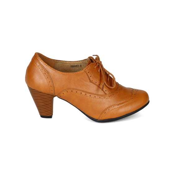 0f0564f467a9 Refresh - New Women Refresh Amany Leatherette Lace Up Oxford Chunky ...