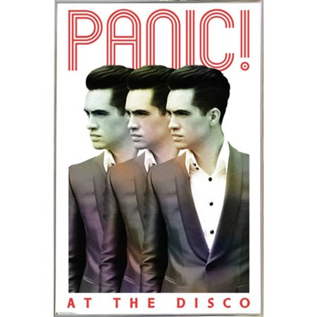 Panic! At The Disco Poster in a Silver Metal Frame (24x36) - Walmart.com