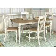 5-Pc Rectangular Dining Set with Table Leaf