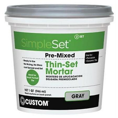 Pre-Mixed Ceramic Tile Thin Set Mortar Gray This No Mix 2PK