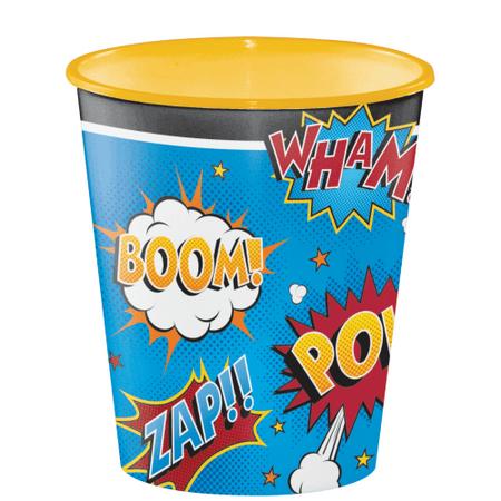 Superhero Slogans 12oz Plastic Souvenir Cup (1 ct)