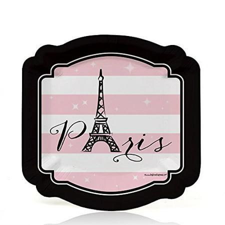 Paris, Ooh La La - Paris Themed Party Dessert Plates (8 count)