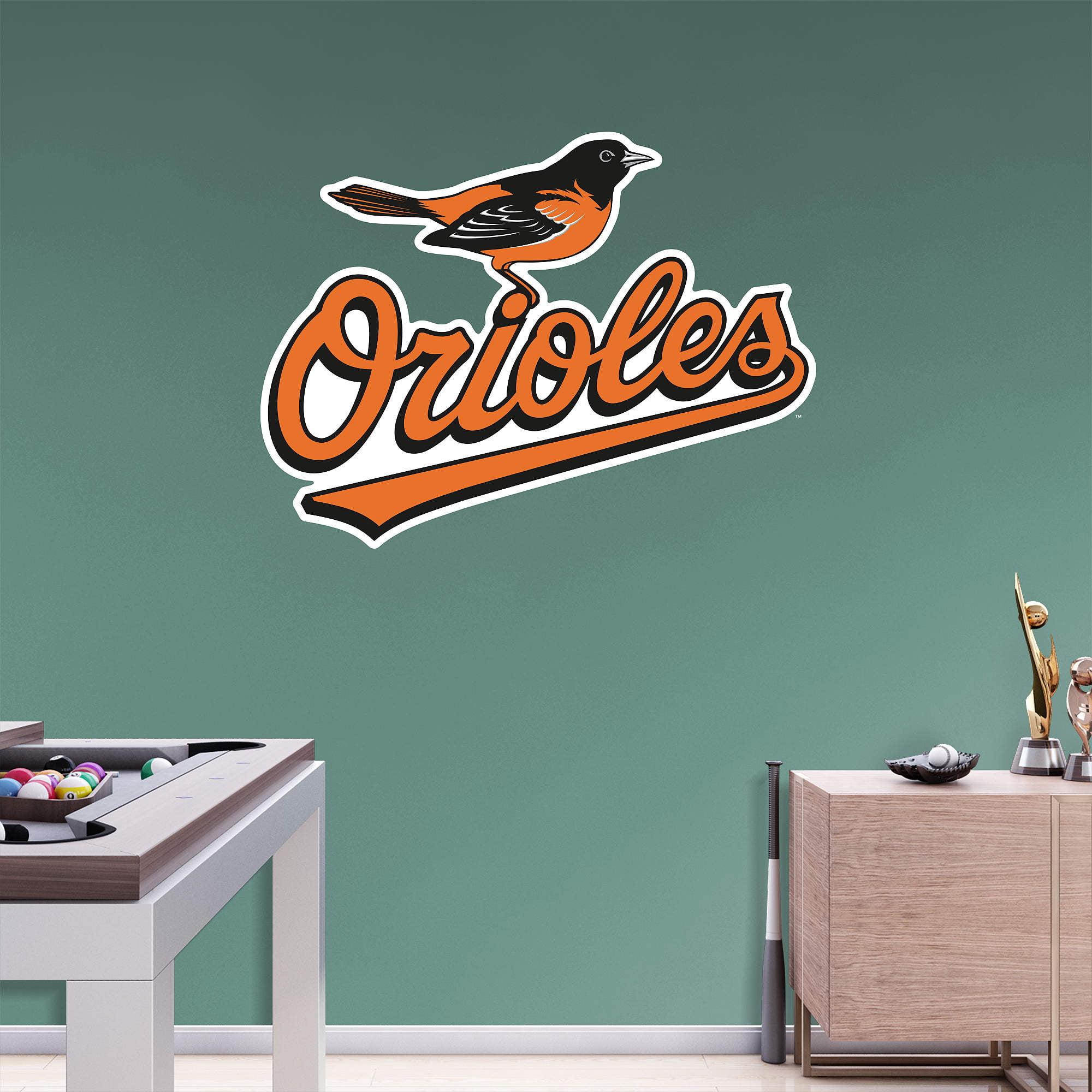Baltimore Orioles Fathead Team Logo Wall Decal - No Size