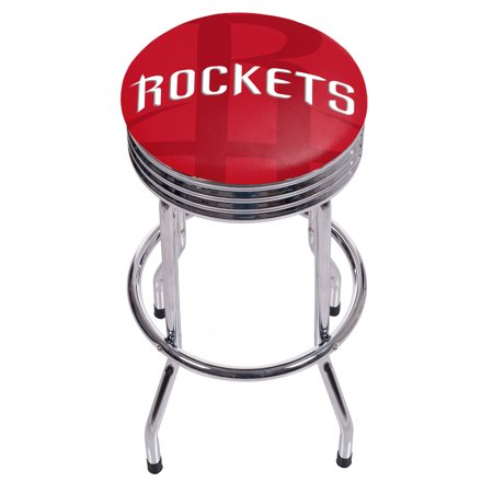 NBA Chrome Ribbed Bar Stool - Fade - Houston Rockets ()