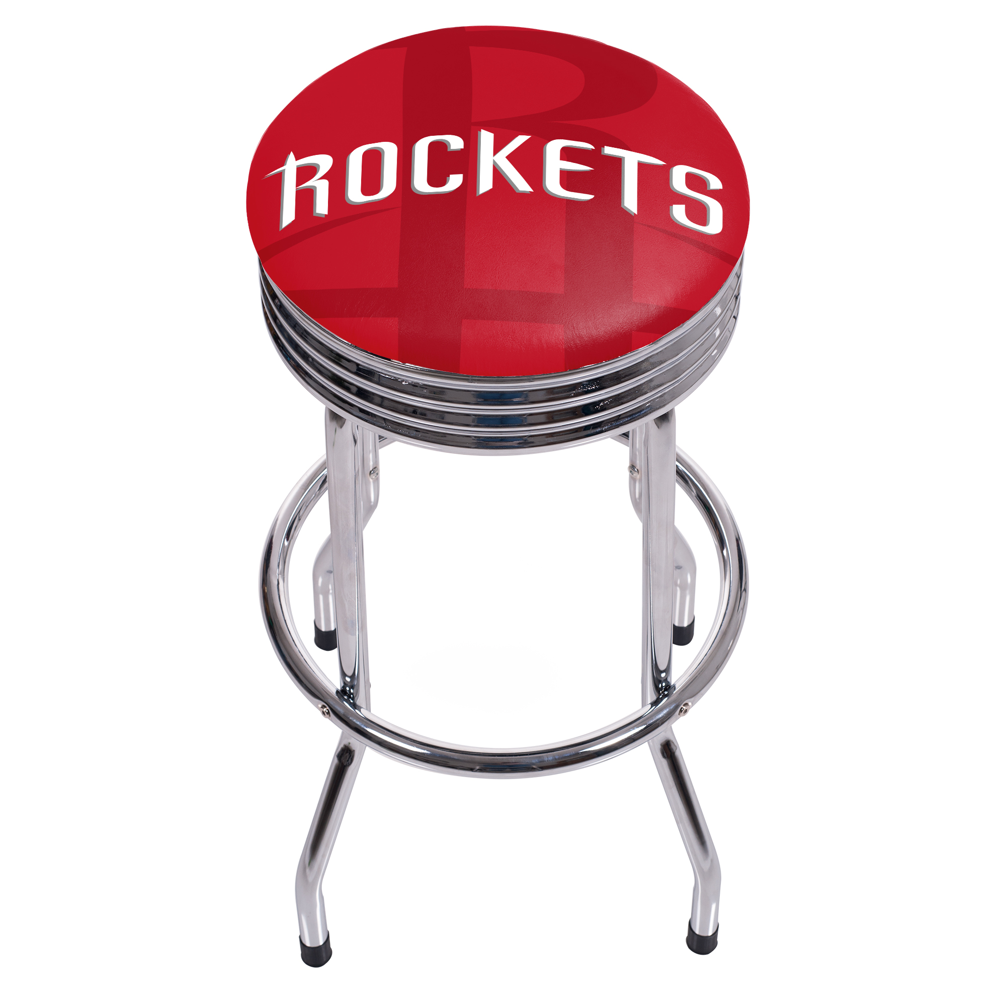 NBA Chrome Ribbed Bar Stool - Fade - Houston Rockets