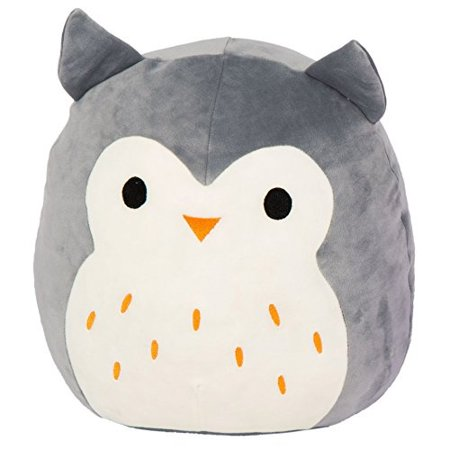 Gray Soft Toy (Kellytoy Squishmallow 8 Inch Hoot the Gray Owl Super Soft Plush Toy Pillow)