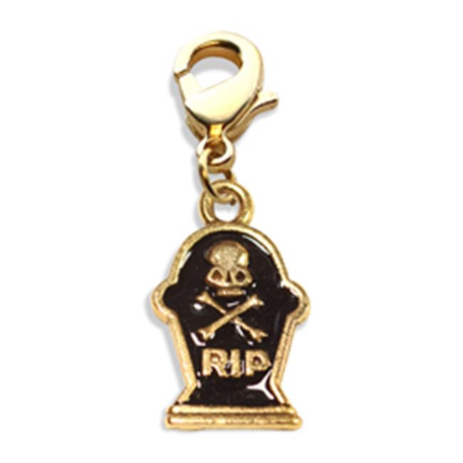 Whimsical Gifts 4375G Tombstone with Skull Charm Dangle, Gold - image 1 of 1