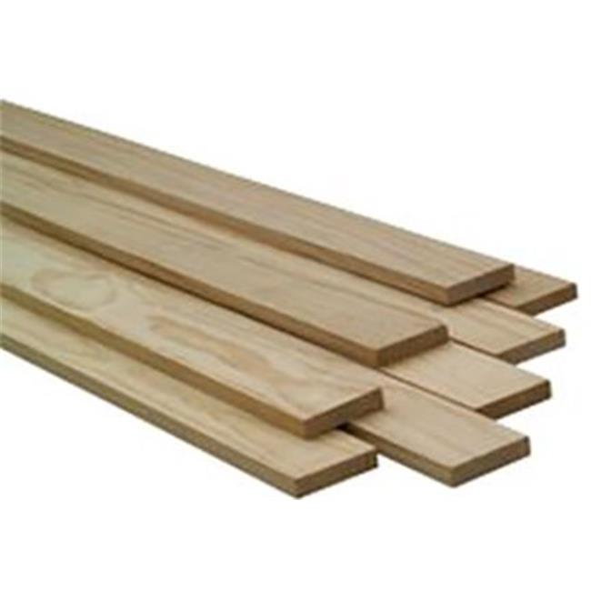 Craftwood BDP148 Natural Pine Board - 1 x 4 in. x 8 ft. - Pack of 6