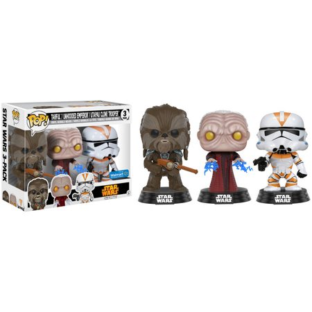 Funko Pop  Star Wars Set With Tarfful  Unhooded Emperor And Utapau Clonetrooper  Walmart Exclusive