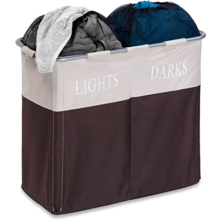 Honey Can Do Dual Laundry Hamper For Light And Dark