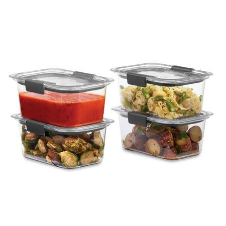 Rubbermaid Brilliance Food Storage Container, 4.7 Cup, 4 (Rubbermaid Brilliance 22 Piece Food Storage Container Set)