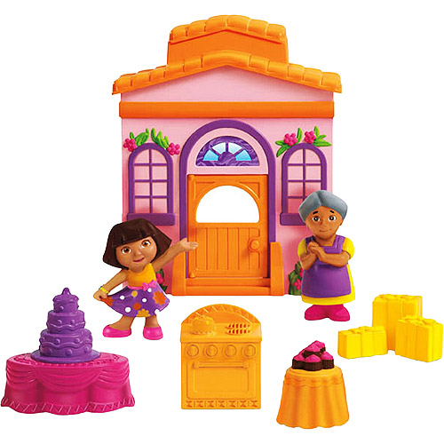 Fisher Price Dora the Explorer Sorpresa Party Playset Dora's Big Birthday Adventure by